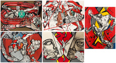 Ernst Iosipovitch NEIZVESTNY - Print-Multiple - Through the Wall (a suite of five lithographs)