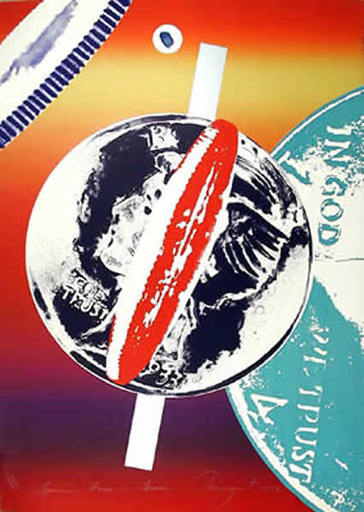 James ROSENQUIST - Stampa Multiplo - Spinning Faces in Space