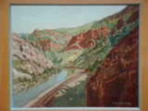 Jean DRYDEN ALEXANDER - Peinture - Landscape with River