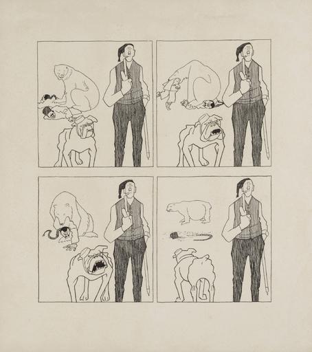 Olaf GULBRANSSON - Drawing-Watercolor - Englands Politik
