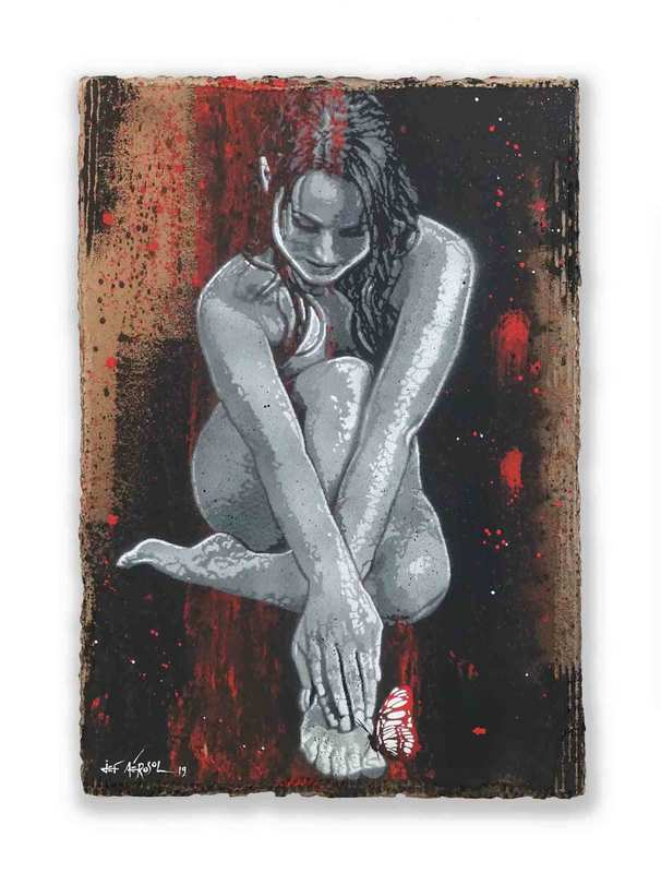 JEF AÉROSOL - Gemälde - The Naked truth