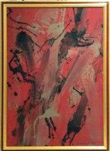 Toti Antonio SCIALOJA - Pintura - Composizione in rosso e nero