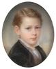 "Richard SCHWAGER - Zeichnung Aquarell - ""Portrait of a noble boy"" miniature, 1858"