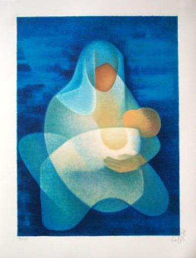 Louis TOFFOLI - Grabado - Douce Maternité