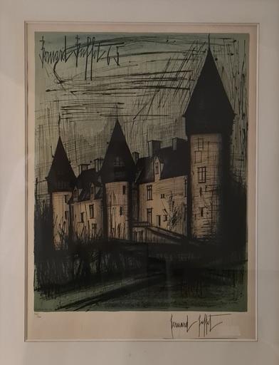 Bernard BUFFET - Estampe-Multiple - Le Château de Culan