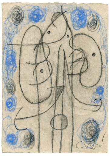 Joan MIRO - Drawing-Watercolor - Personnage