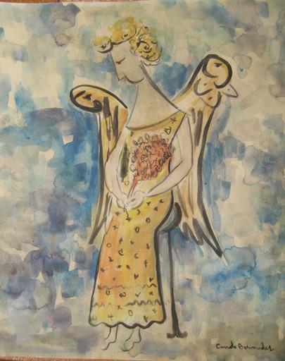 Cundo BERMUDEZ - Dessin-Aquarelle - Angel
