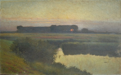 Edgar BYTEBIER - Painting - Avondzon