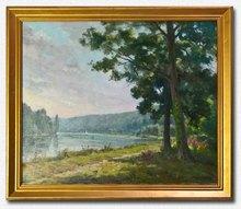 Jacques CARTIER - Pintura - Au bord du lac
