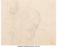 Pierre BONNARD - Drawing-Watercolor - Le bain - The Bath