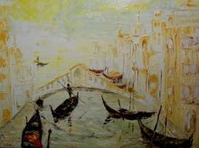 Serge Louis TUQUET - Peinture - Venise au couchant