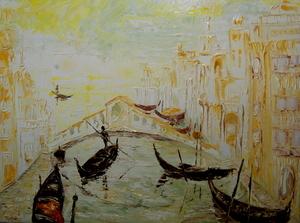 Serge Louis TUQUET - Painting - Venise au couchant