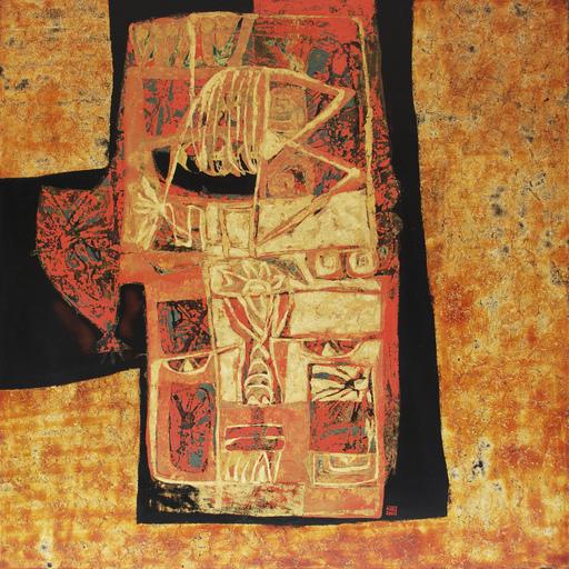 Kim Hoa CONG - Pintura - Orange Composition