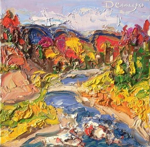 Mychailo DEMTSIU - Peinture - Torrent dans les Carpates