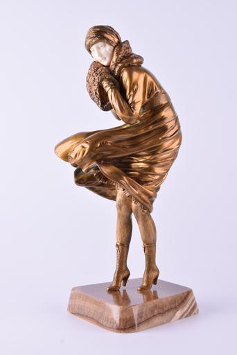 Dimitri CHIPARUS - Skulptur Volumen - The Squall