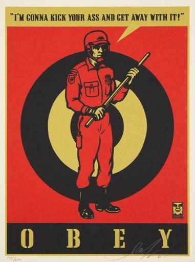 Shepard FAIREY - Print-Multiple - Riot Cop