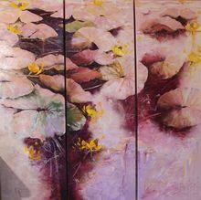 Nadine PILLON - Painting - Œil rêveur
