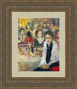 Levan URUSHADZE - Pintura - At the restaurant
