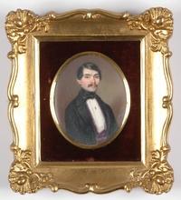 "Albert THEER - Miniature - ""Portrait Miniature"", 1844"