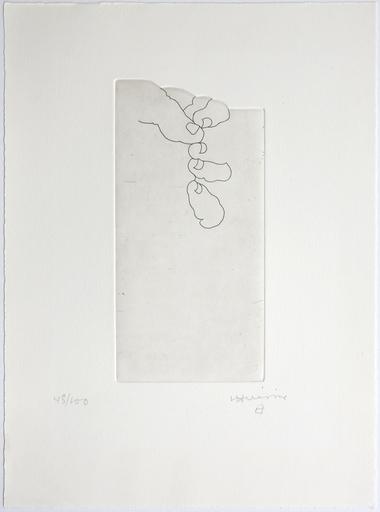 """Eduardo CHILLIDA - Print-Multiple -  Hand XXV  aus: Jorge Semprún: """"L ́Écriture ou la vie"""""""