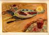 Abraham MINTCHINE - Zeichnung Aquarell - Still life