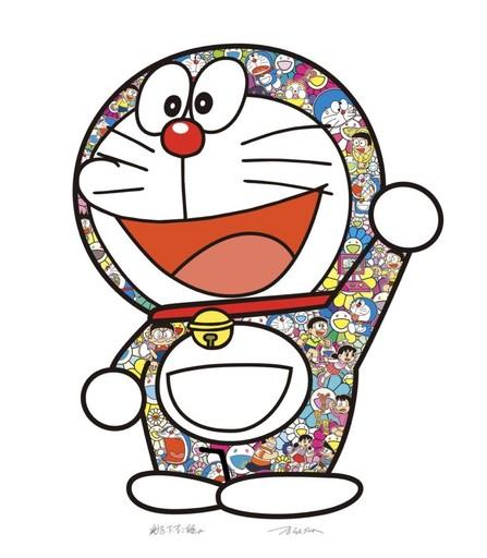 Takashi MURAKAMI - Grabado - Doraemon: Here We Go!