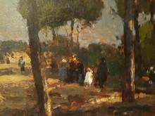 Lucien FRANK - Pintura - Au parc de l'ouest, Madrid