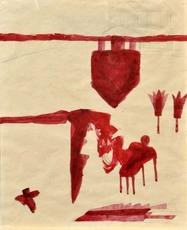 Mimmo PALADINO - Drawing-Watercolor - Senza titolo
