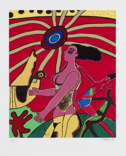 CORNEILLE - Print-Multiple -  La Femme et l'oiseau Jaune