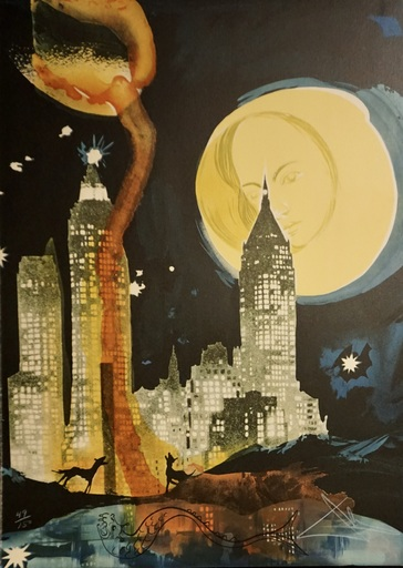Salvador DALI - Stampa-Multiplo - Manhattan Skyline
