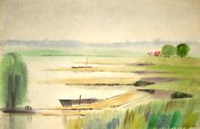 Dimas MACEDO - Drawing-Watercolor - Reflets d'eau