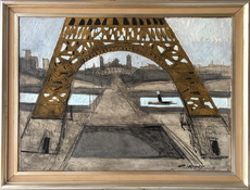 Claude VENARD - Painting - The Trocadero under the Eiffel Tower