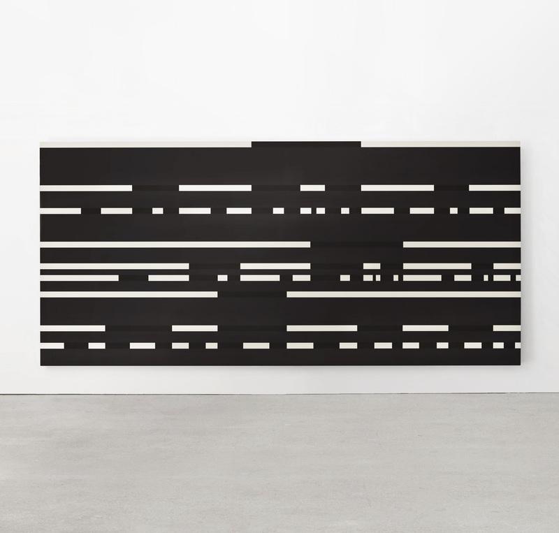 Paul MOGENSEN - Painting - Dot Dash Painting on Black