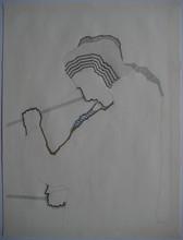 Nils HAGLUND - Drawing-Watercolor - DESSIN CRAYON AQUARELLE SUR PAPIER SIGNÉ HANDSIGNED DRAWING