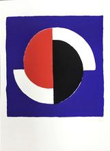 Sonia DELAUNAY-TERK (1885-1979) - Composition fond bleu