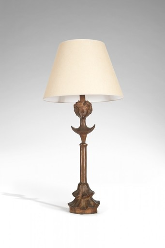 Alberto GIACOMETTI - Sculpture-Volume - Lampe tête de femme