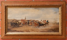 Alfred STEINACKER - Peinture -  Village fete