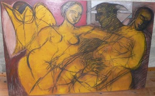 Christian BERNARD - Painting - Le trio