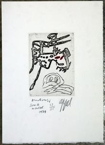 Pierre  ALECHINSKY & Karel  APPEL - Grabado - Sous le Mental