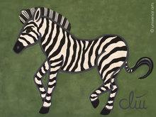Jacqueline DITT - Peinture - Das wilde Zebra (The wild Zebra)