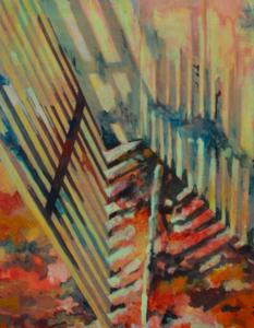 Aude MOUILLOT - Painting - « Focus Etang #3 »