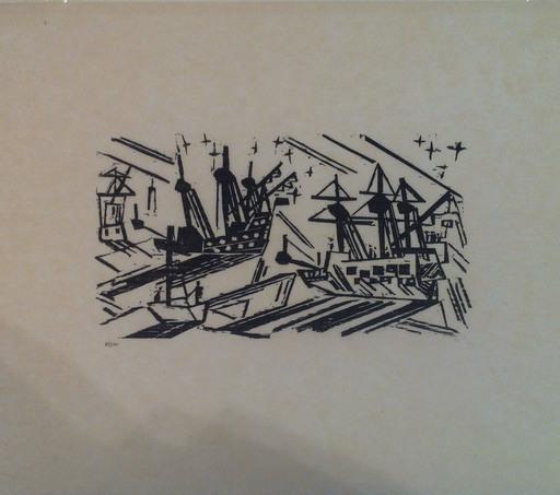 Lyonel FEININGER - Stampa Multiplo - SCHIFFE UND STERNE