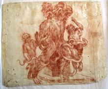 TIZIANO VECELLIO - Drawing-Watercolor - Karrikarrikatur zur Laoocongruppe