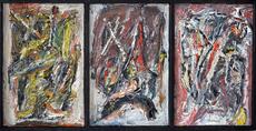 Jacques DOUCET - Pintura - Rumeurs 1-2-3
