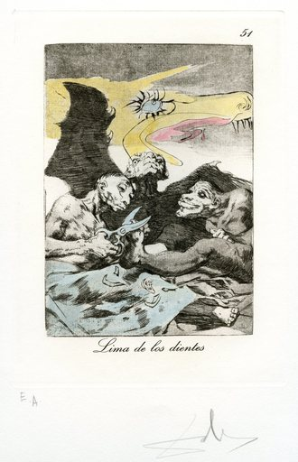 萨尔瓦多·达利 - 版画 - GRAVURE SIGNÉ AU CRAYON ANNOTÉ EA ML898 HANDSIGNED ETCHING