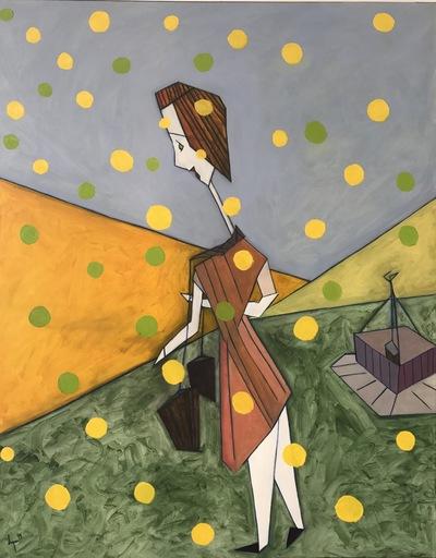 Abraham DAYAN - Peinture - Cosette or et espérance