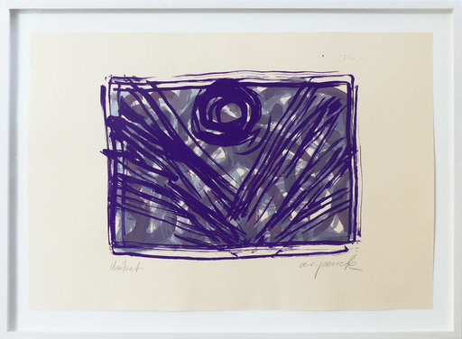 A.R. PENCK - Estampe-Multiple - Mondblume violett