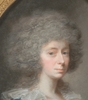 "Johann Heinrich SCHRÖDER - Miniature - ""Baroness Harsefeld"", Pastel from Royal Collection"