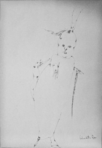 Enrico COLOMBOTTO ROSSO - Zeichnung Aquarell - Figura e animali