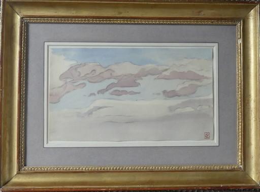 Lucien OTT - Drawing-Watercolor - étude de ciel